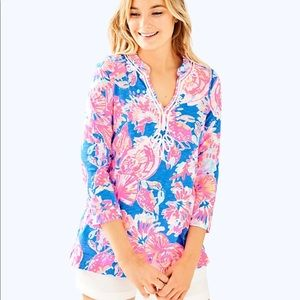 """Lilly Pulitzer Kaia Knit Tunic in """"Bay Dreamin"""""""